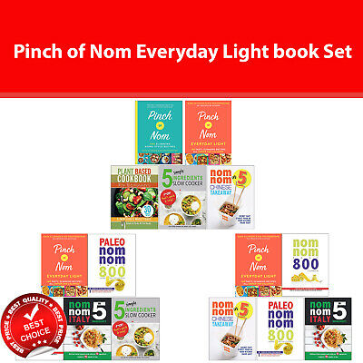 Pinch of Nom Everyday Light Books Set Pinch of Nom, Paleo Nom Nom Fast 800