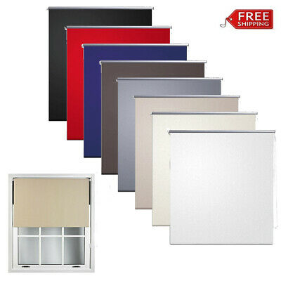 Blackout Roller Blind Made To Measure Thermal Window Blinds Home Multi-sizes NEW