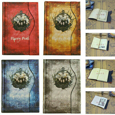 HOT Harry Potter Premium Hogwarts House A5 Lined Notebooks Best Gifts