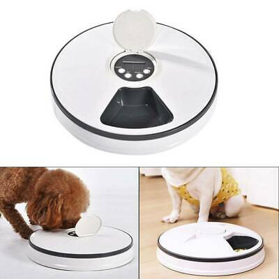 Automatic Pet Timed Feeder Programable Cat&Dog Food Dispenser 6Meal ABS Electric