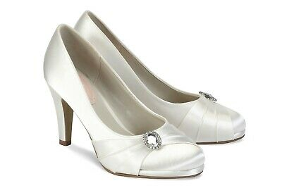 39 BNWB Gorgeous Strawberry Wedding//Bridal Shoes By Pink Paradox in Ivory 6
