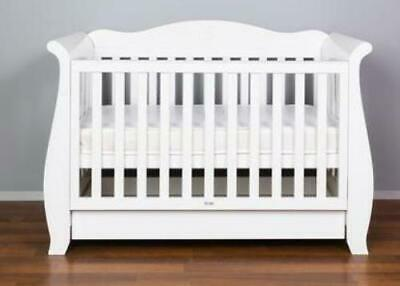 Babyworth BW05 Sleigh Royal Cot Painted by Water-based Painting With Mattress