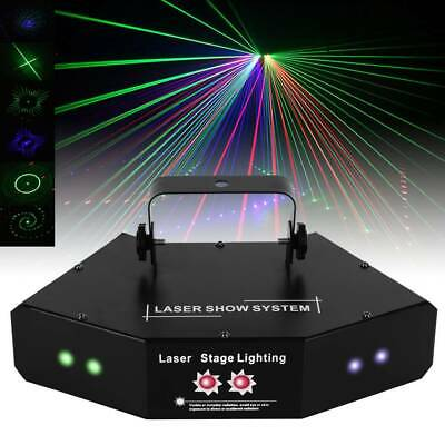 LED RGB Stage Light Lighting Beam Laser Disco DJ Party KTV Projector AU