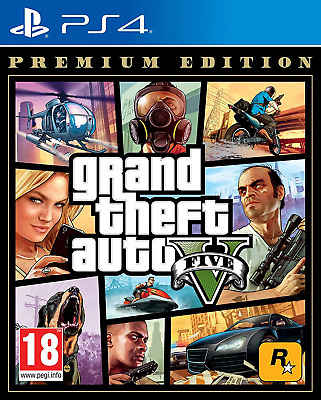 Grand Theft Auto V - Premium Edition PS4 (Sony PlayStation 4, 2013) Brand New