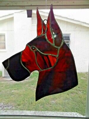 Stained Glass - Dog - Great Dane-Brindle