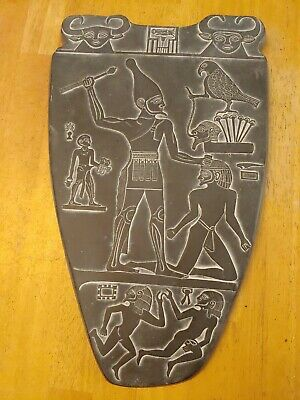 Grey Egyptian Hieroglyphic Wall Hanging decor