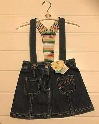 Little Bird by Jools Oliver Age 2-3 years Denim Braces Skirt New With Tag