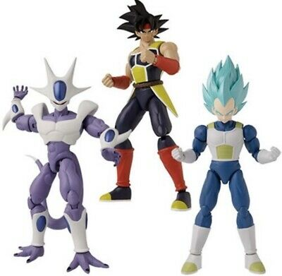 Dragon Ball Stars Series 16 Set Bardock Cooler Super Saiyan Blue Vegeta Figure