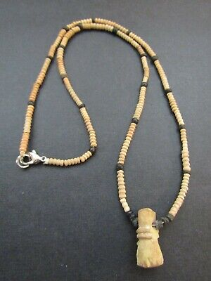 NILE  Ancient Egyptian Coptic Amulet Mummy Bead Necklace ca 100 AD