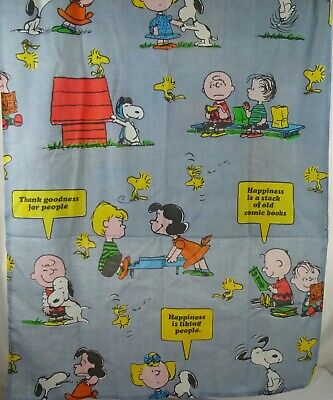 3 Lengths Vintage Peanuts Print Handmade Curtains or Fabric