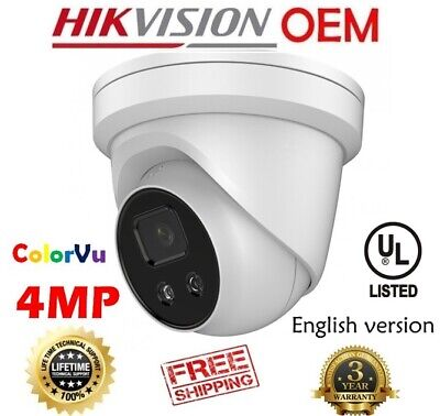 Hikvision(OEM) DS-2CD2347G1-LU (NC344-XD/LU) 4MP 24/7 COLOR FIXED Turret IP 4MM