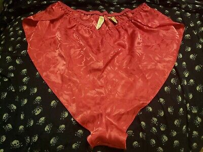 Vintage Pink 1980s Tap Pants Shorts Panties High Leg Sz Small Satiny Shiny