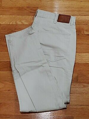 Us Polo Assn  Light Gray Chino Pants Stripe Pattern Slim 38 30