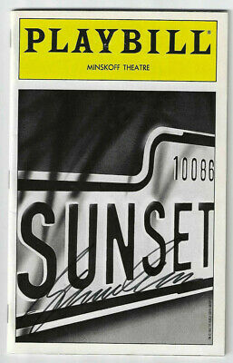 Glenn Close Signed Playbill for Sunset Blvd 1992 / Autographed Actress