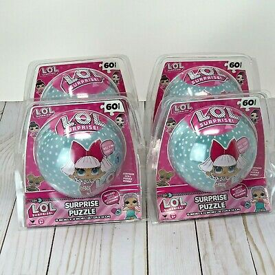 {NEW} LOL Surprise Puzzle Ball Dolls Toy Game HTF New Lot of 4 Stickers