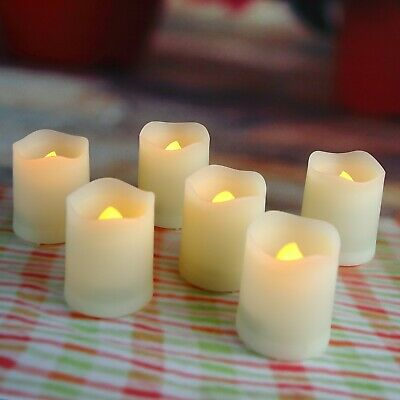 6 PCS Flameless LED Votive Candles Battery Operated Tealights Flicker with Timer