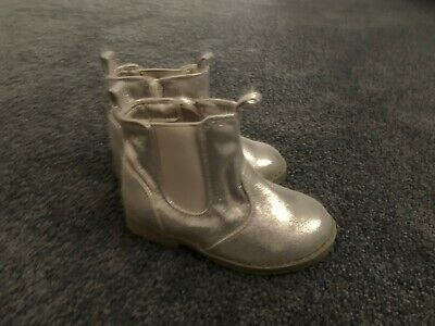 Girls Stylish Rose Gold Sparkly Boots Brand New Size 7