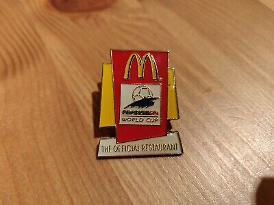 BADGE 2  McDONALDS WORLD CUP FRANCE 1998 VINTAGE ENAMEL PIN IN  MINT CONDITION