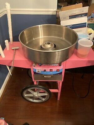 Olde Midway Commercial Quality Cotton Candy Machine Cart and Electric Candy F...