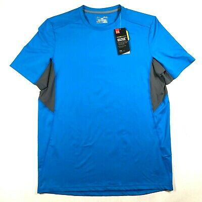 Under Armour Mens M Blue CoolSwitch Compression Short Sleeve T Tee Shirt NWT