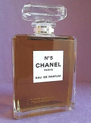Chanel No 5 Eau de Parfum Factice Dummy Display Bottle 3.4 oz 100ml Vin RARE
