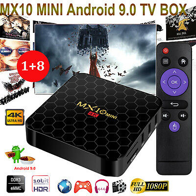 2019 Android 9.0 Pie Quad Core 8G TV BOX WIFI 4K 3D Movies HDMI2.0 Media Player