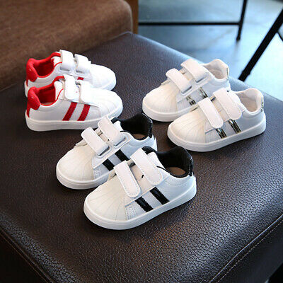 Fashion Boys Girls Sneakers Baby Children Flat Sport Casual Breathable Shoes UK