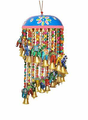 Decorate Elephant Chattar Chandler String Wall & Door Hangings with Beads & Bell