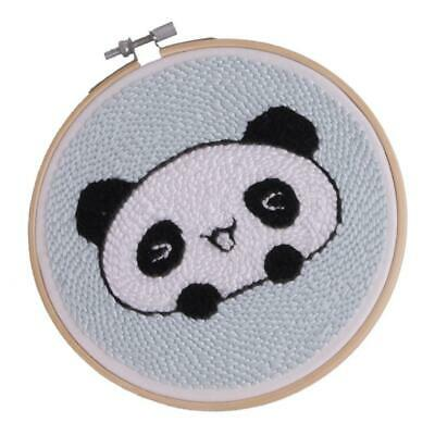Punch Needle Pen Punch Embrodiery Kits for Beginners Kids - Cute Panda 15cm