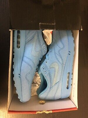 NIKE AIR MAX 1 Footbal Blue UK 12 308866 400 Rare Vintage