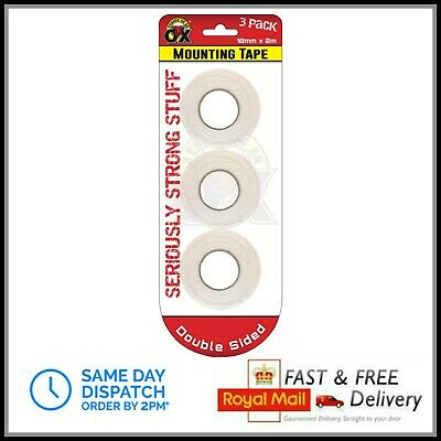 3 Heavy Duty Strong Double Sided Sticky Tape Foam Adhesive Craft Padded Mounting