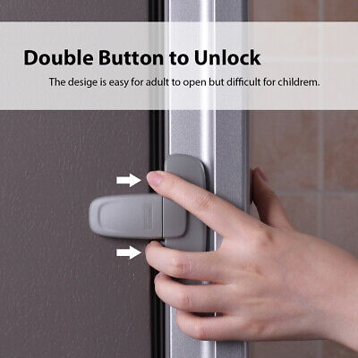 Fridge Guard Refrigerator Door Latch Baby Child Lock Strong-Adhesive Tape X