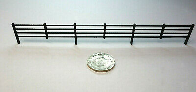 Scenery 1:76 OO gauge FENCING -10 PACK- UK [Model Railway] - Black *1.5 metres*
