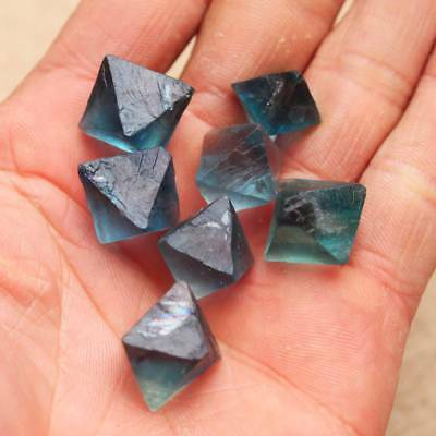 Natural Clear Purple Fluorite Crystal point octahedron Rough Specimens 0.22LB