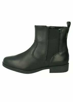 Girls Junior Clark Samiso Gtx Zip Up Leather Casual Chelsea Ankle Boots Size 1 G