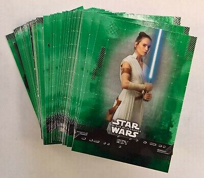 2019 Topps Star Wars Rise of Skywalker Series 1 GREEN BASE CARDS (Pick Your Own)