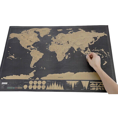 For World Map World Map Black Scratch Personalized Deluxe Erase 1pcs Travel