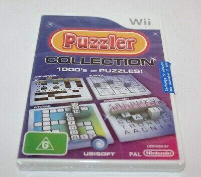 Nintendo Wii Puzzler Collection 1000's Of Puzzles! Game Brand New & Sealed 2008