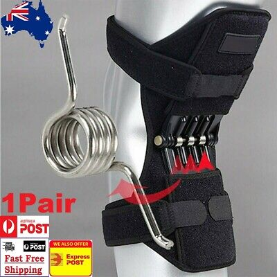 Rebound Power Knee Support Patella Booster Lift Joint Brace Pad 3+3 Spring Force