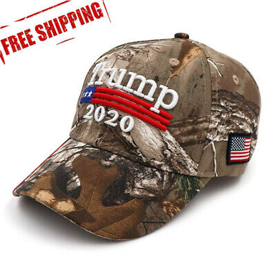 Donald Trump Cap Keep America Great Maga hat President 2020 Flag Mossy - sm