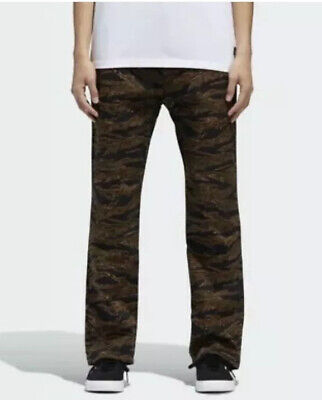 $75 Adidas Skateboarding Camochinos Pants Camo Men's Size 34/32 Tiger DH6656 NWT