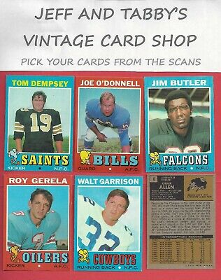 1971 Topps Football You Pick From Scans # 133 To # 263