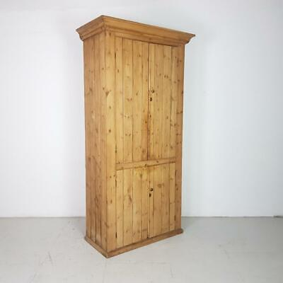 Vintage Early 20Th Century Pine Linen Cupboard #2528