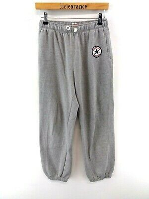 CONVERSE Boys Tracksuit Bottoms Joggers 13-15 Years XL W28 L29 Grey Cotton Poly