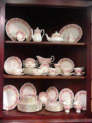 Royal Albert ' Serena ' Tea Set And Tableware - English Bone China.