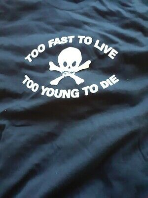 TOO FAST TO LIVE TOO YOUNG TO DIE COTTON TOTE BAG SEDITIONARIES PUNK ROCK 1977