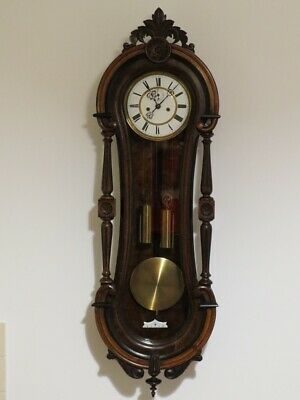 OLD BEAUTIFUL RARE COLLECTOR GUSTAV BECKER WALL CLOCK 1880y.  !!!