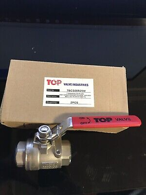 "1"" stainless steel ball valve 2000 wog 316 SS FNPT"