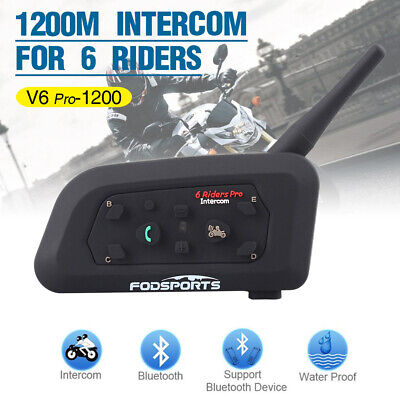 1200m Motorrad Helm Sprechanlage Bluetooth Gegensprechanlage BT Intercom Headset