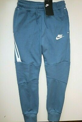 Nike Sportswear Tech Fleece Pants Joggers Blue 804818-418 - Boys M 10-12 Years